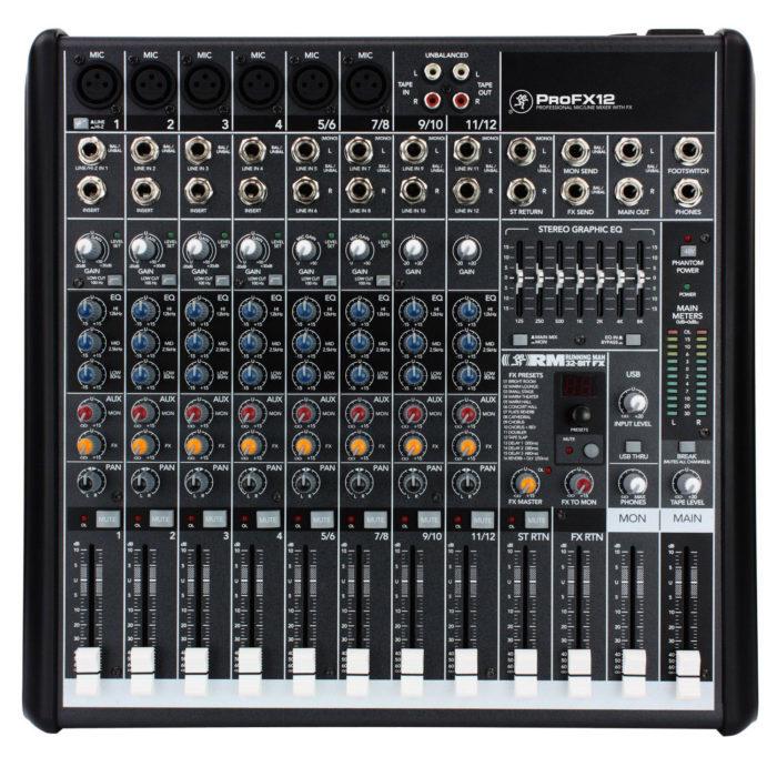 mackie pro fx 12 v2 mixer analogique