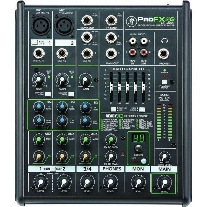 mackie pro fx 4 v3 mixer analogique